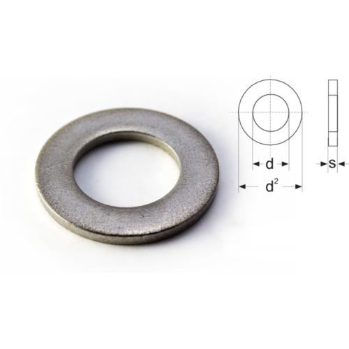DIN 125/A - Lapos alátét A2 rozsdamentes INOX